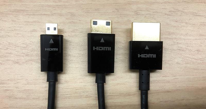 HDMI端子の比較